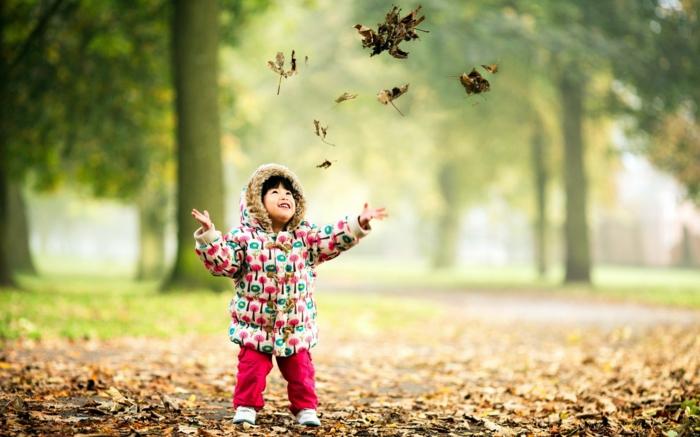 positiv denken lernen keines kind park natur