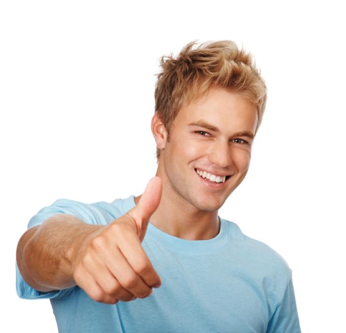 positives denken lernen tipps junger mann