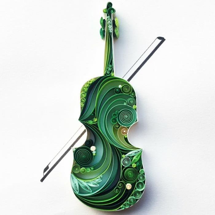 papierkunst papierfaltkunst violine