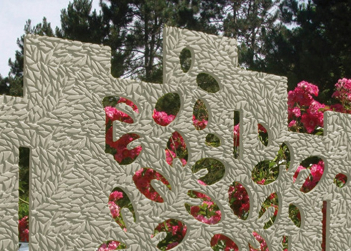 rankgitter gartenzaun beton kunstvoll