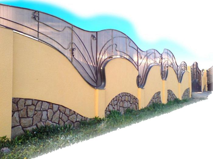 rankgitter gartenzaun metall beton steine