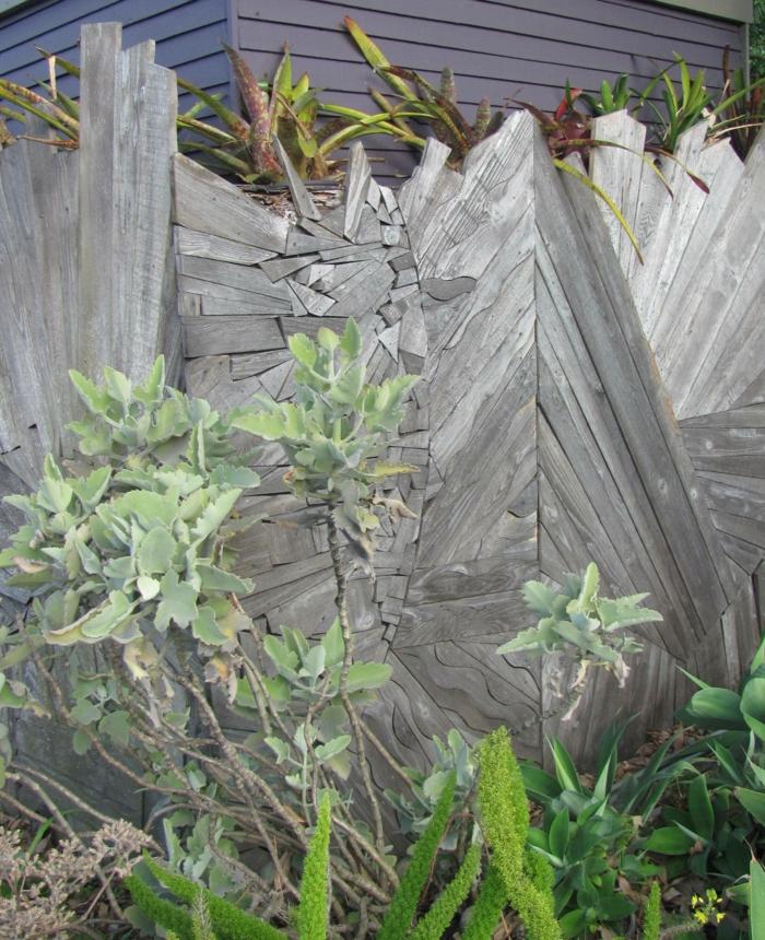 rankgitter gartenzaun sperrholz abstrakt