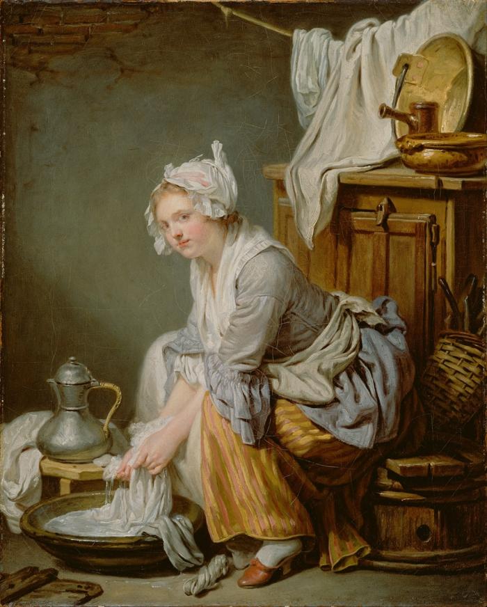 realismus kunst leinwand Jean Baptiste Greuze die wäscherin