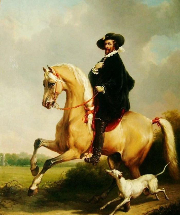 realismus kunst leinwand porträt rubens eugene verboeckhoven
