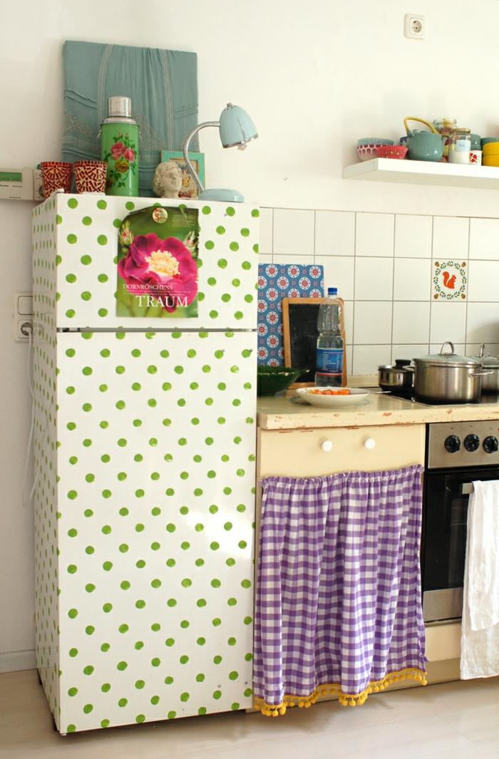 retro kühlschrank schöne retro küche einrichten