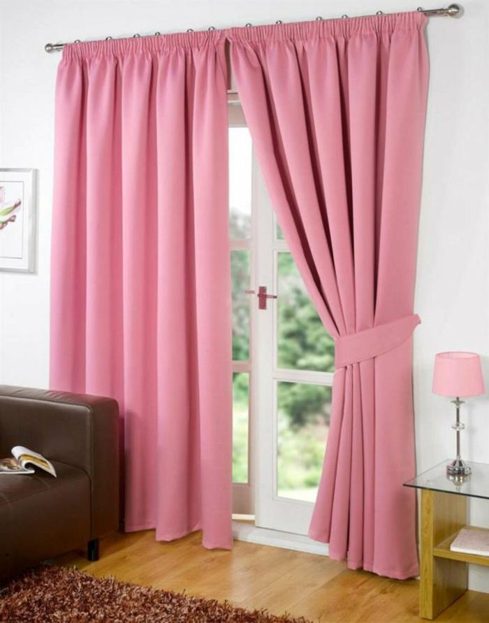Rosa Gardinen Fensterdekoration Blickdicht Und Vorhnge