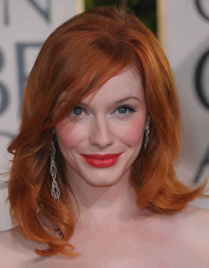 rote haare färben berühmtheiten trendfrisuren Christina Hendricks