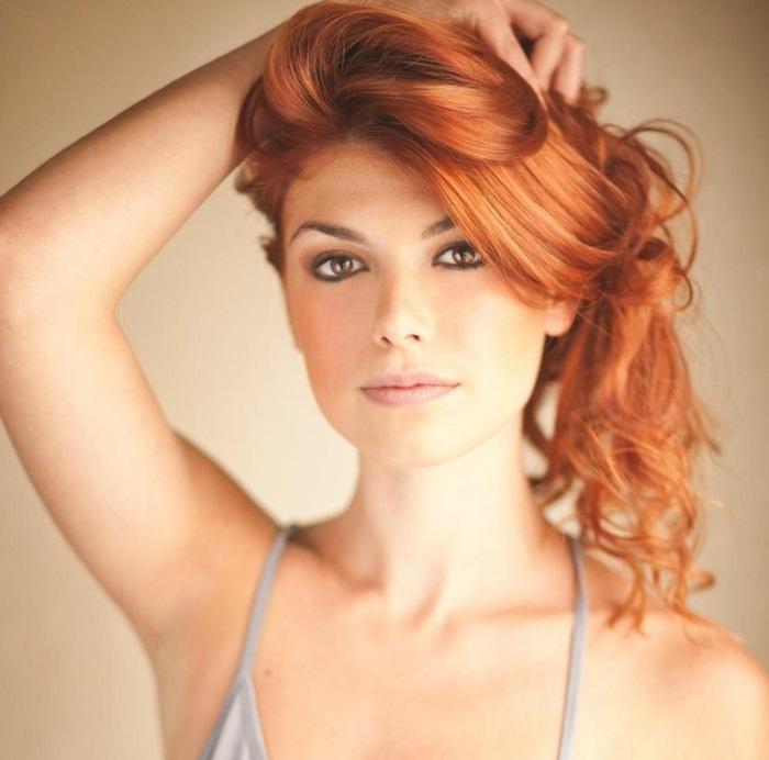 rote haare färben langhaarschnitte mit wellen