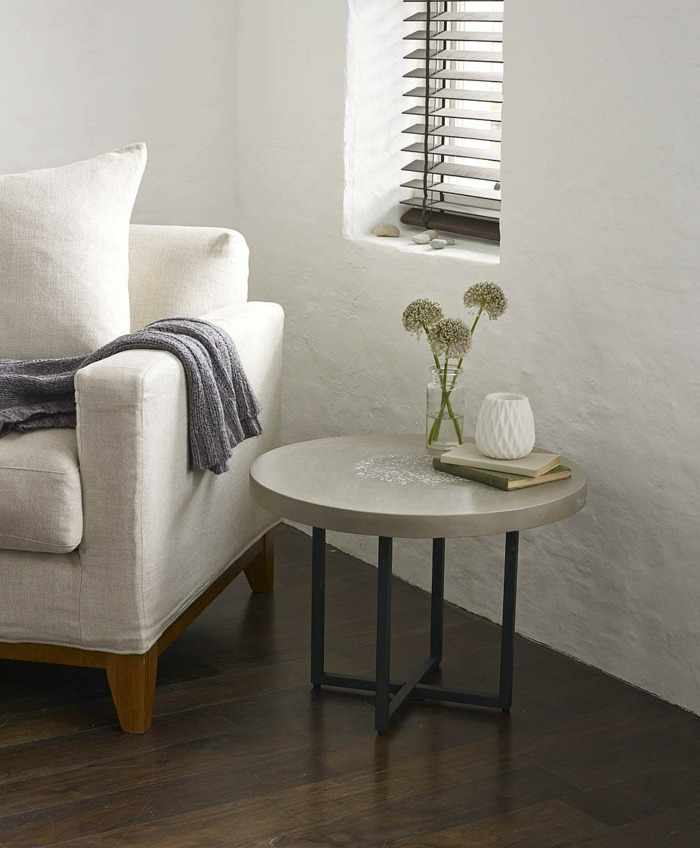 40 Wohnzimmer Sofa Platzierenrunder Beistelltisch Schick Wohnzimmersofa