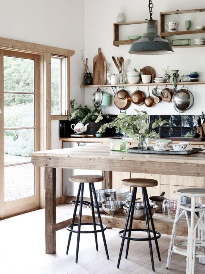 rustikale küchengestaltung ideen küche mit kochinsel