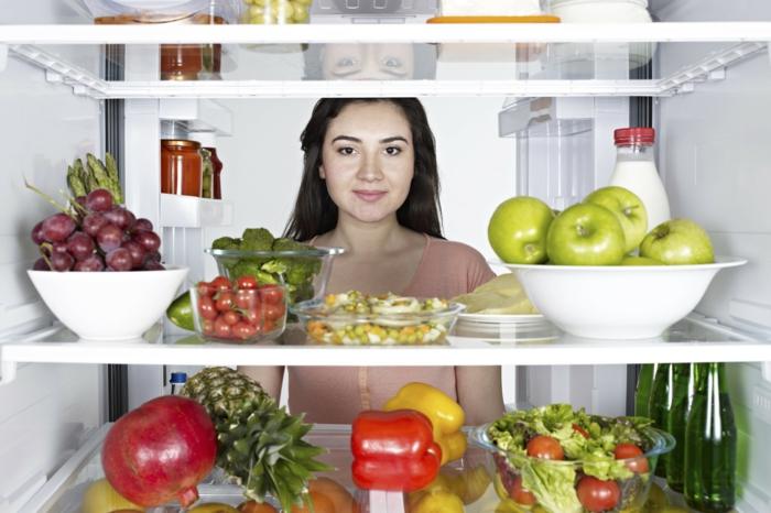 schöne haut gesunde lebensmittel kühlschrank