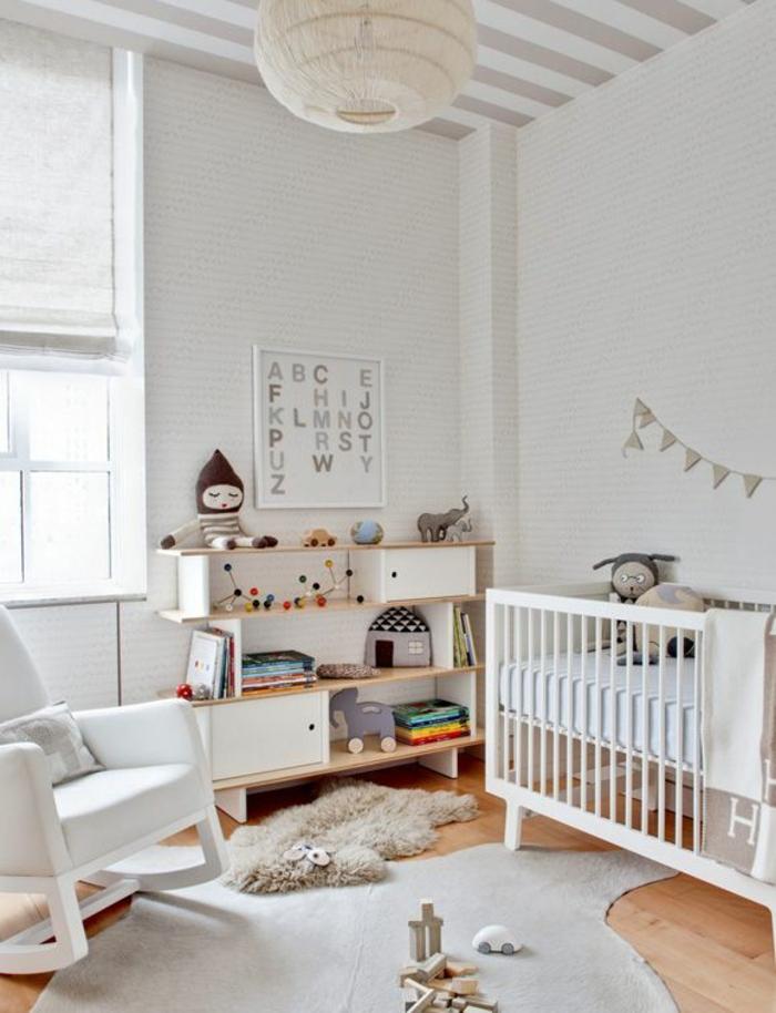 schaukelstühle designs kinderzimmer babyzimmer gestalten fellteppich tapeten
