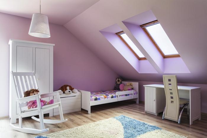 Wandgestaltung kinderzimmer lila for Raumgestaltung kinderzimmer