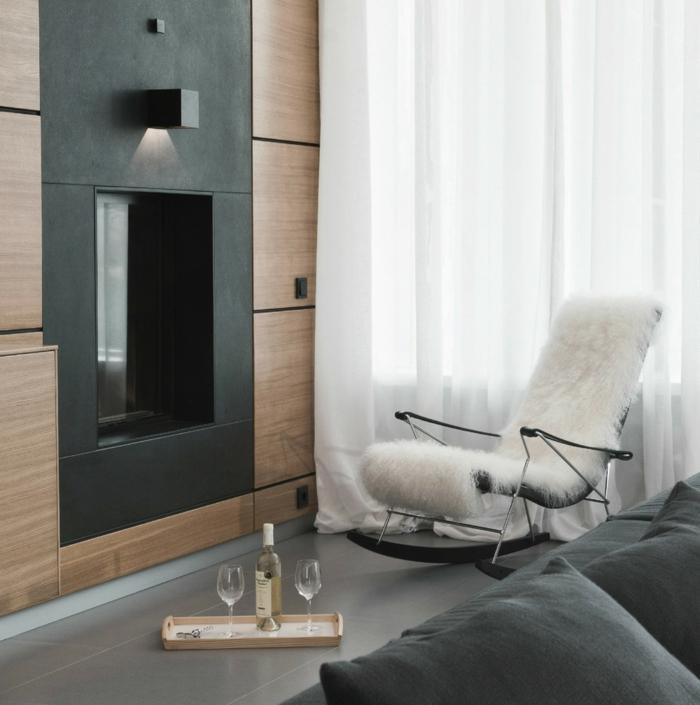 mit schaukelstuhl eine schicke erholungsecke gestalten. Black Bedroom Furniture Sets. Home Design Ideas