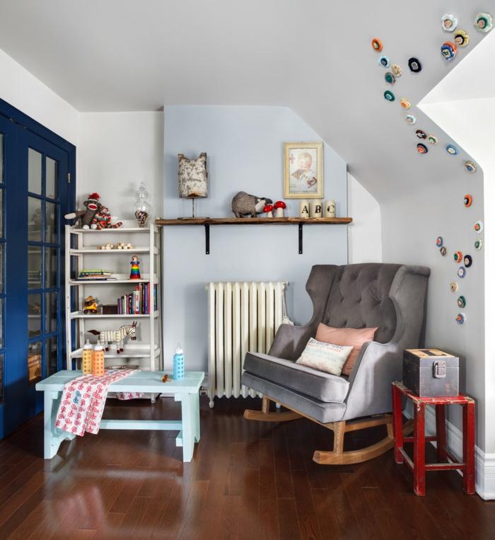 schaukelstuhl kinderzimmer einrichten schöne wohnideen