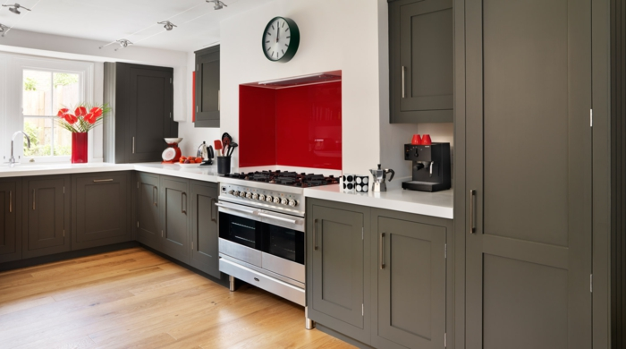 shaker möbel gemütliche küche graue töne