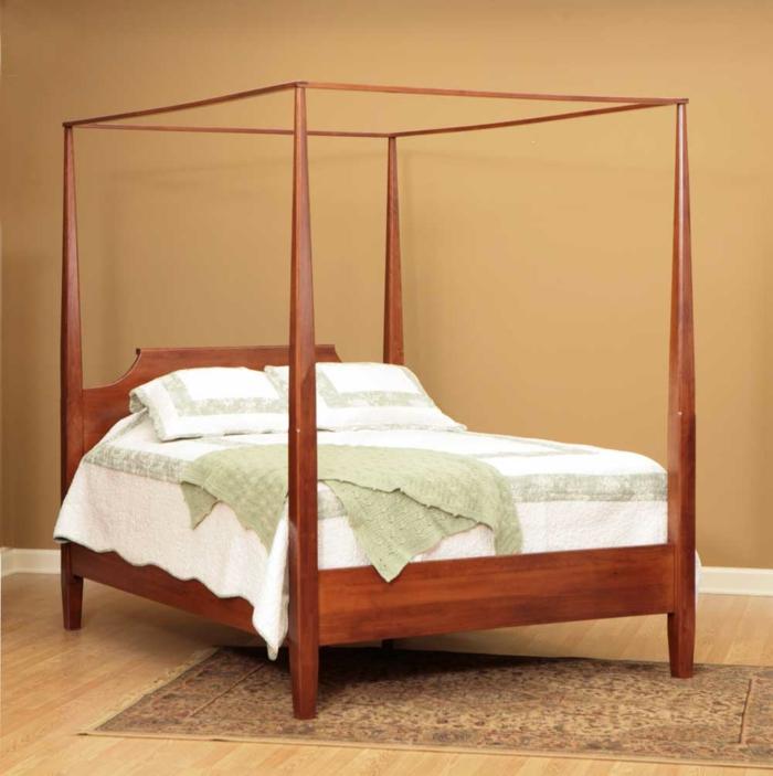 shaker möbel schlafzimmer himmelbett schlichtes design