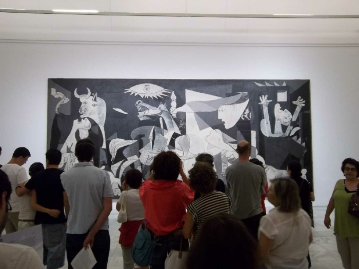 spanspanien sehenswürdigkeiten museo nacional centro de arte madrid picasso guernica