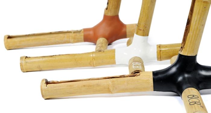stylische fahrräder bcb nachhaltiges design bambusständer