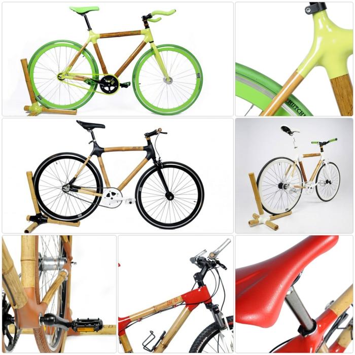 stylische fahrräder nachhaltiges design bambus carbon