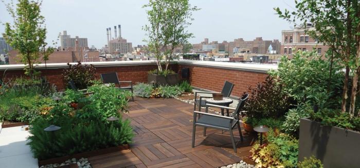 Sch ne terrassengestaltung den au enbereich zur geltung for Open terrace garden designs