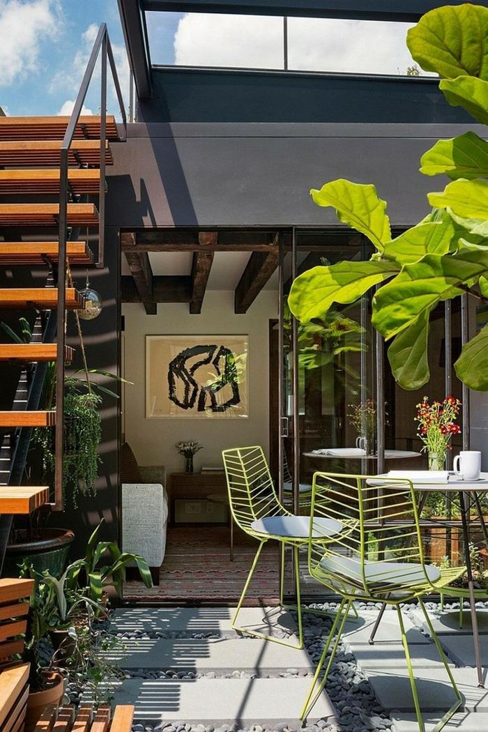 terrasse gestaltten ideen coole außenmöbel pflanzen