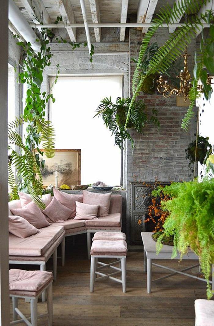 terrassenbepflanzung möbel und balkonpflanzen grüne terrassengestaltung