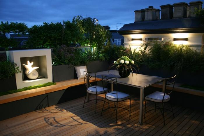 terrassengestaltung schöne beleuchtung terrassenmöbel auswählen deko