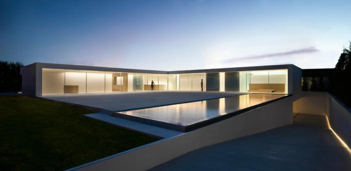 traumhaus bauen minimalistisch einstöckiges gebäude