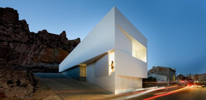 traumhaus bauen schlichtes design beton