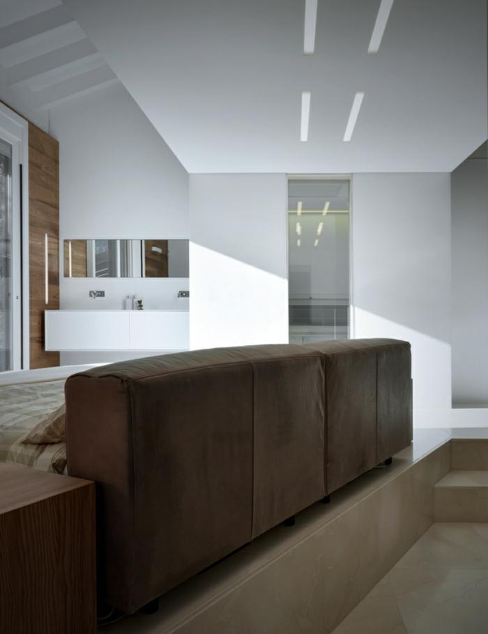 traumhaus minimalistisch modern offener wohnplan gemütliche couch