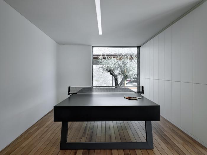 traumhaus minimalistische inneneinrichtung tischtennis