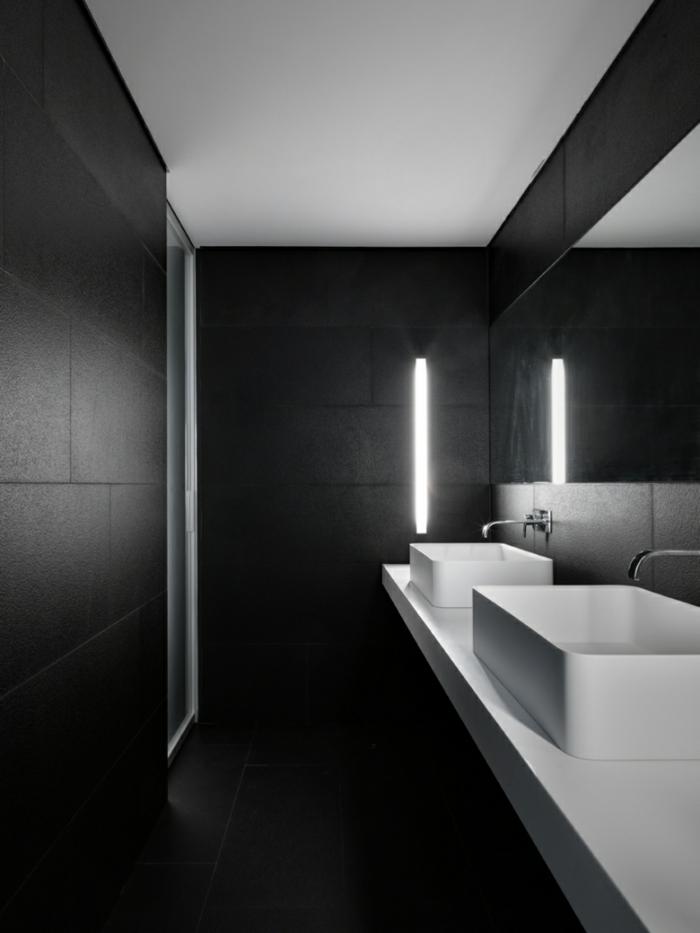 traumhaus minimalistisches bad rechteckige waschbäcken