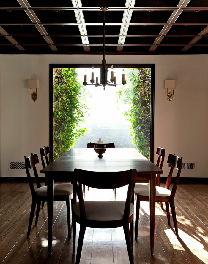 traumhaus moby esszimmer tolles panoramafenster wandleuchten