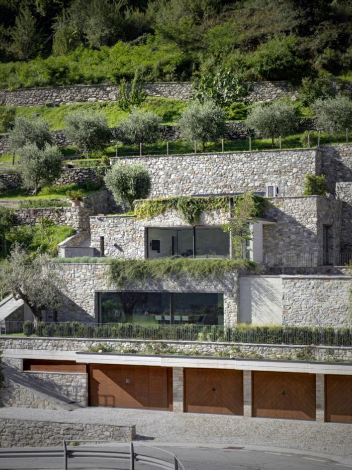 traumhaus nachhaltige architektur steinwände terrassenbau