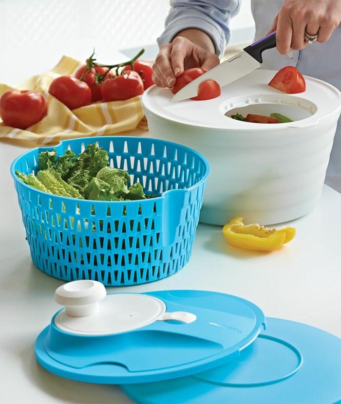tupperware salatschleuder blau weiß salatschleuder tupper