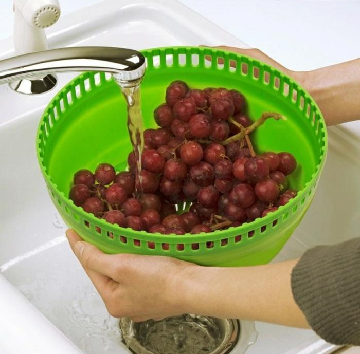 tupperware salatschleuder trauben waschen salatschleuder tupper