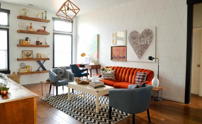 deko wohnzimmer wand:wand deko tapeten poster gemälde