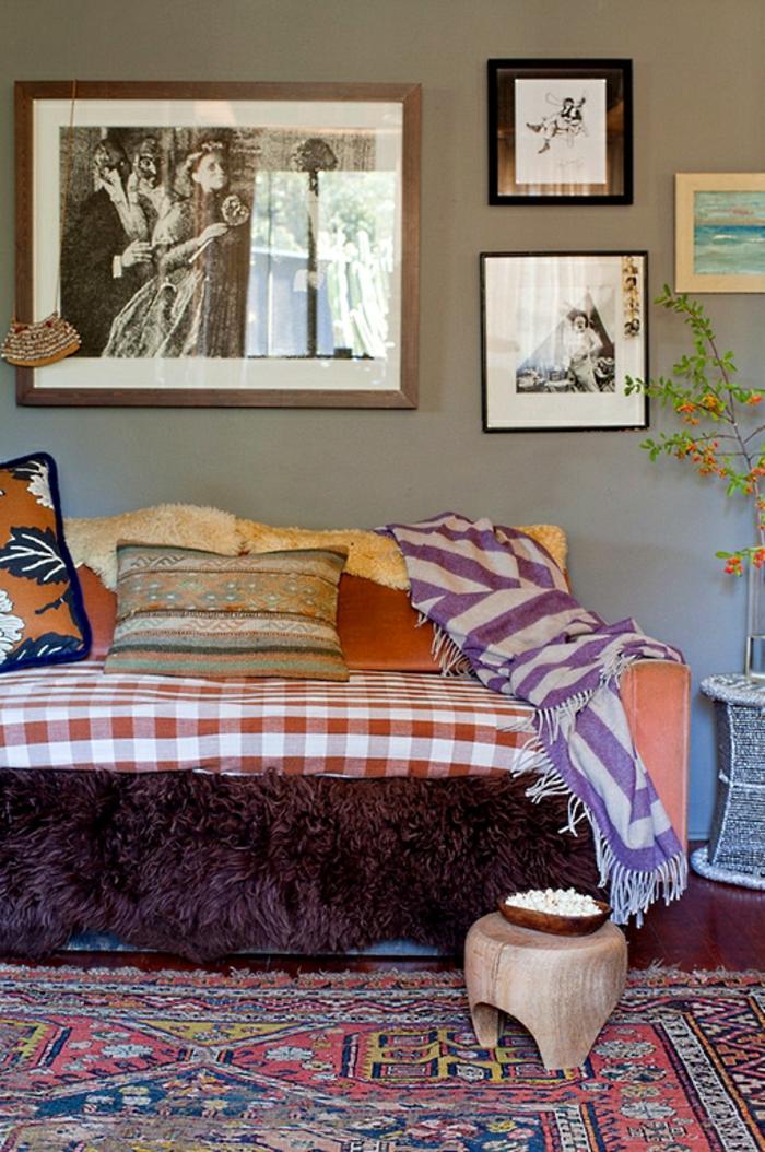 wand deko wohnzimmer wanddekoration gemälde fotos