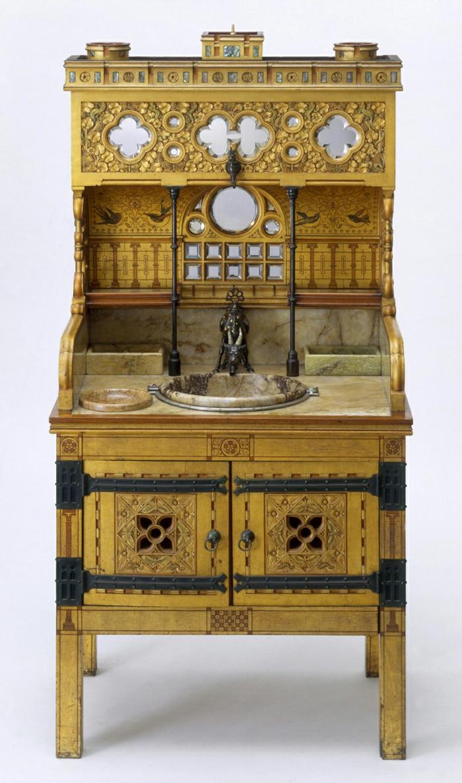 waschtisch holz badezimmer ideen antike möbel vintage