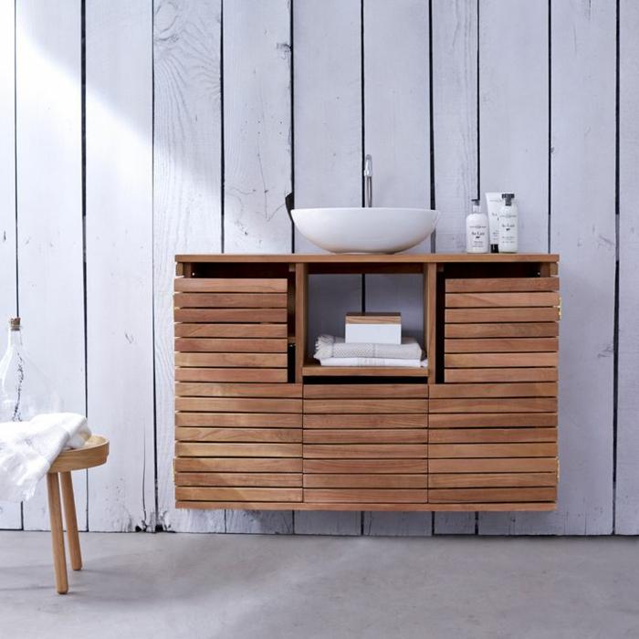 waschtisch holz moderne badezimmer ideen holzmöbel