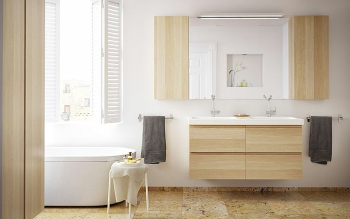 waschtisch aus holz und andere rustikale badezimmer ideen. Black Bedroom Furniture Sets. Home Design Ideas