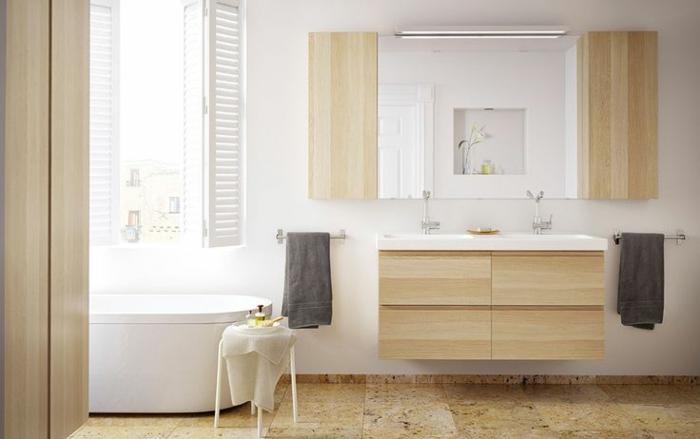waschtisch holz rustikale badezimmer ideen ikea möbel