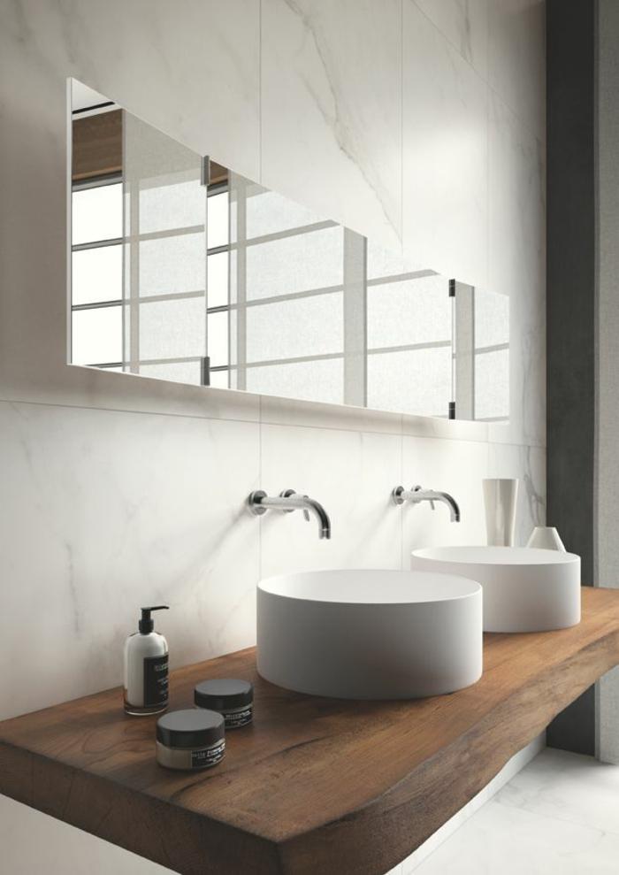 waschtisch holz rustikale badezimmer ideen massivholz möbel
