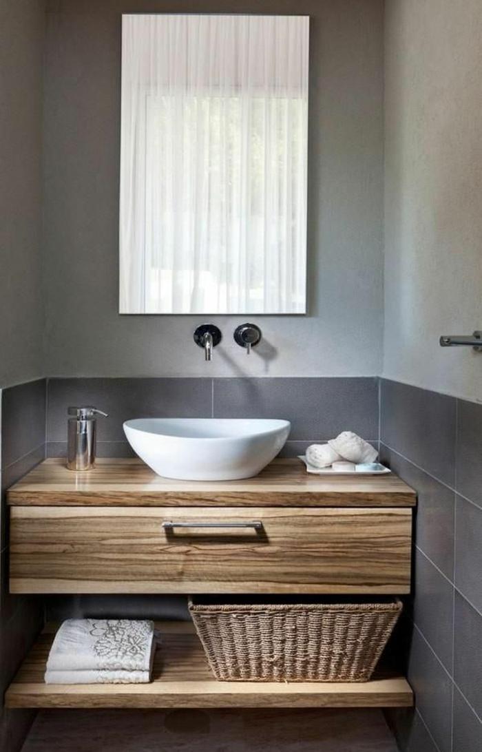 waschtisch holz rustikale badezimmer ideen