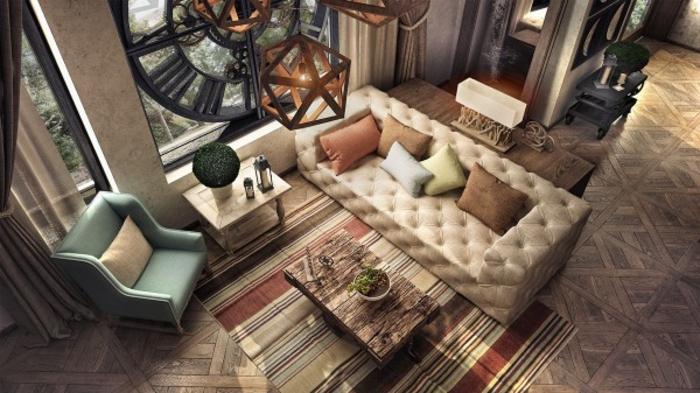 wohnen im landhausstil wohnzimmer einrichten sofa couch