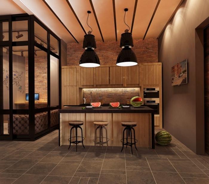 wohnen im landhausstil küche ideen einrichten rustikal