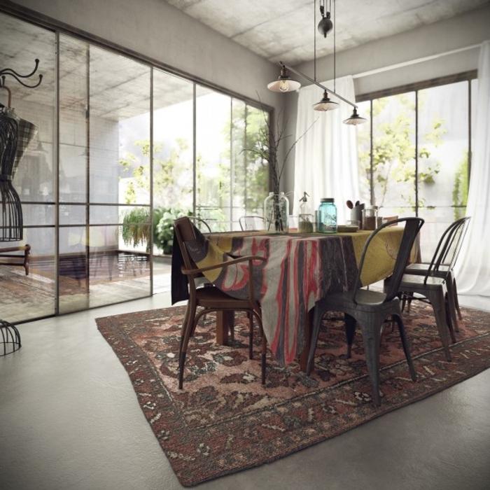wohnen im landhausstil esszimmer möbel esstisch stühle holz metall