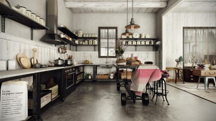 wohnen im landhausstil küche möbel industrial design möbel