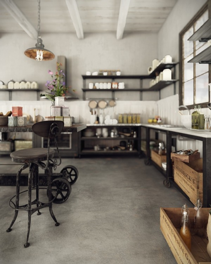 Loft Style Talisman Penthouse In London Talismanic Conversion ... Industrial Design Wohnzimmer